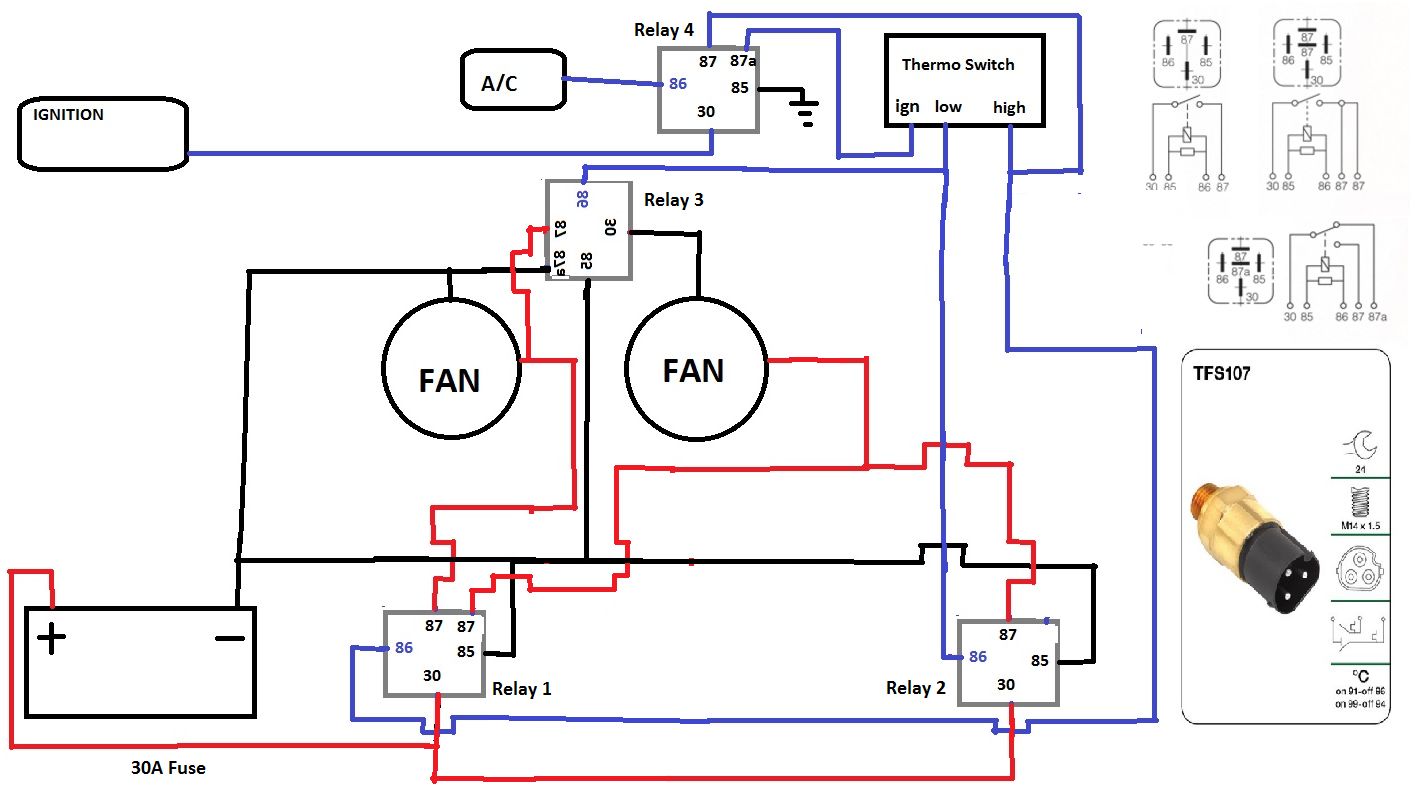 thermofan wiring diagram auto electrics ozfalcon ford falcon 3 Speed Fan Switch Diagram thermofan wiring diagram